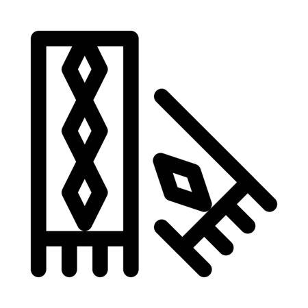 Scarf icon. Illustration