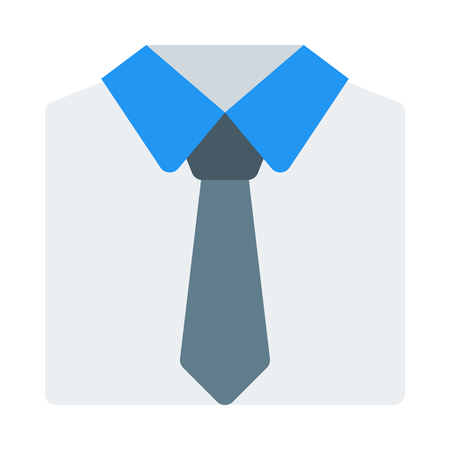 Shirt with tie icon.