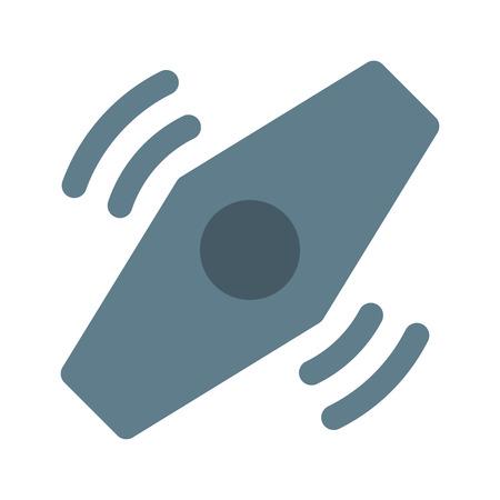 Fidget spinner icon design element.
