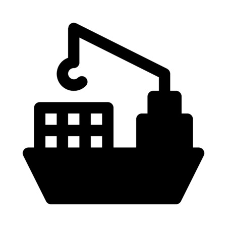 Freighter icon Stock Vector - 88999961