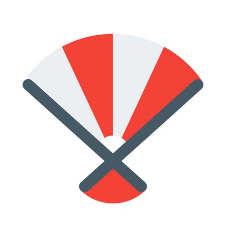 Hand fan icon Illustration