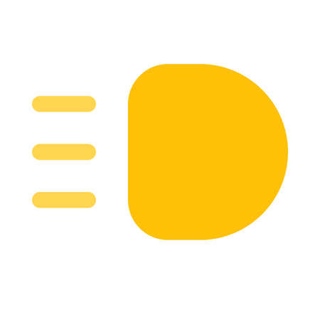 High beam light icon