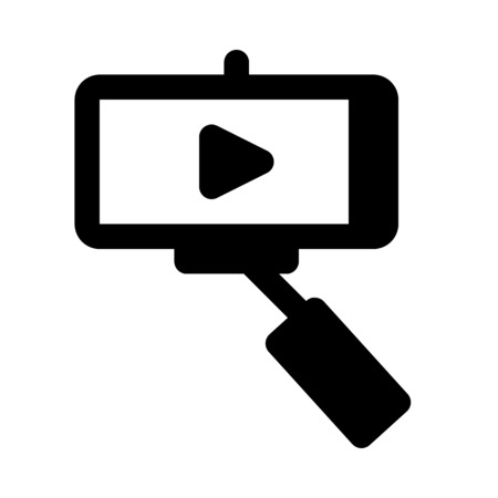 Video selfie icon