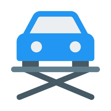 Hydraulic car lift icon