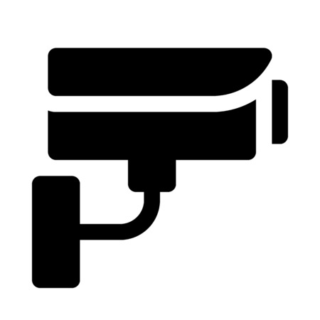 Closed circuit television camera icon Illustration