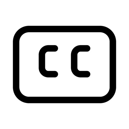 Closed captions icon
