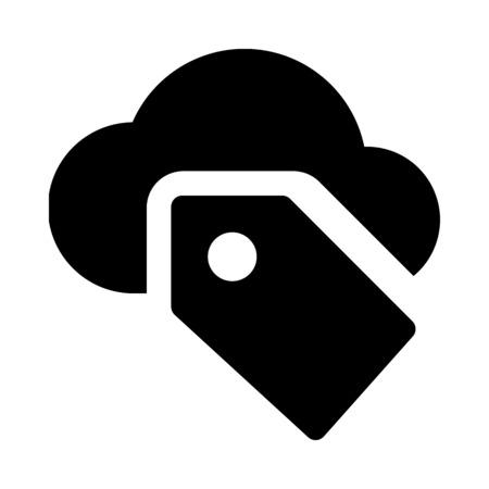 Cloud tag icon Çizim