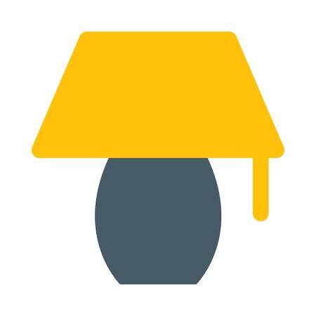 Bureau lamp pictogram Stock Illustratie