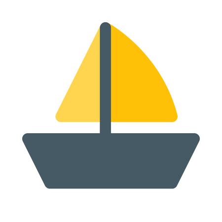 スループ船アイコン 写真素材 - 89001529