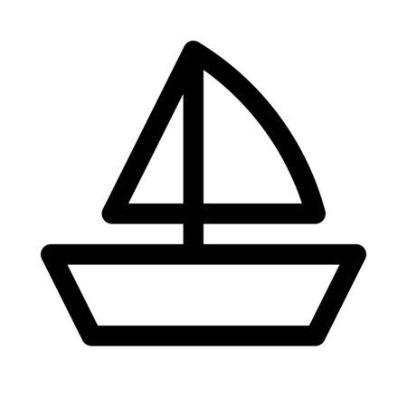 スループ船アイコン 写真素材 - 89001530