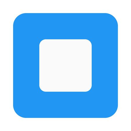 Stop button icon Ilustração