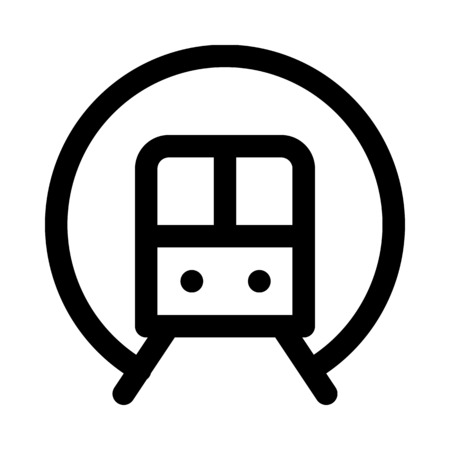 electric train: Subway icon Illustration