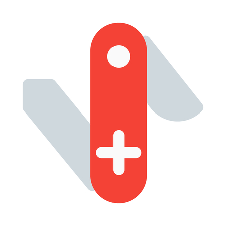 Swiss knife icon Illustration