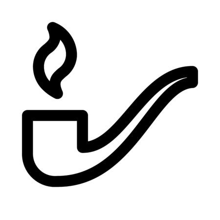 Tobacco pipe icon Ilustrace