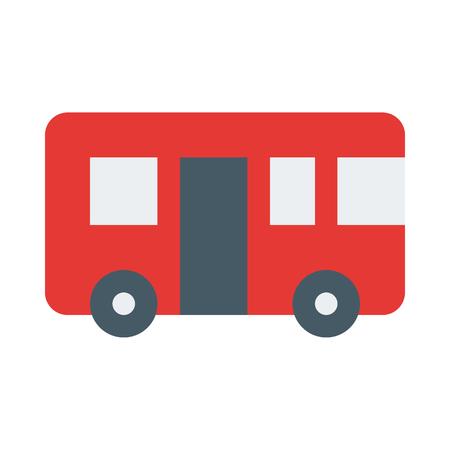 Trolleybus icon Illustration