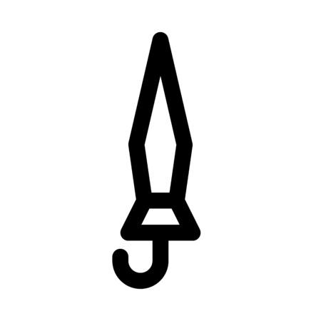 Parasol closed icon