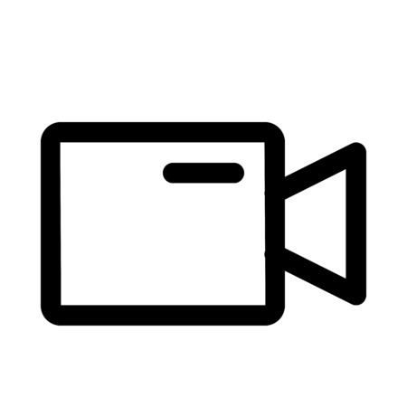 Video camera icon Çizim
