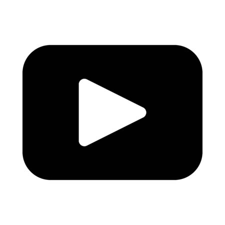 Video play button icon Ilustrace