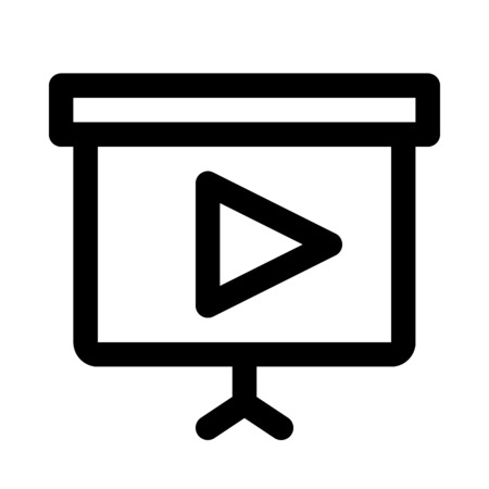Video presentation icon