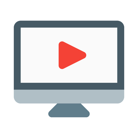 Video screen icon Illustration