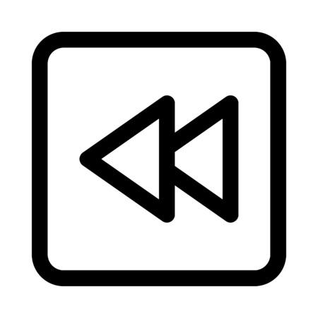 Backward button icon Stock Vector - 89002316