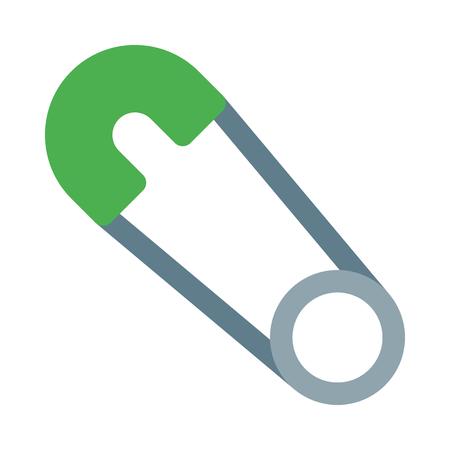 Brooch pin icon Illustration