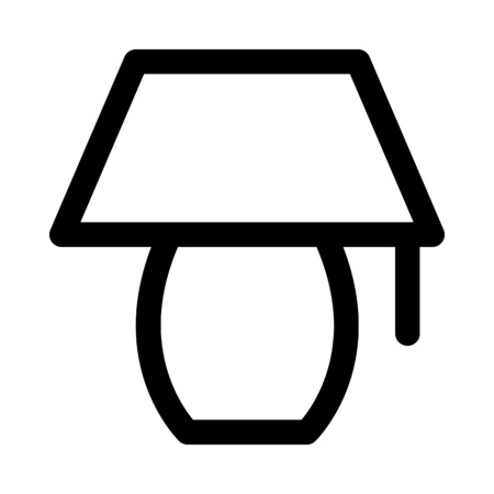 Bureau lamp pictogram Stockfoto - 89002464