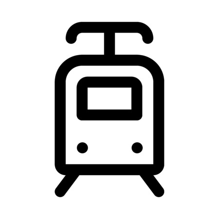 Electric train icon 向量圖像
