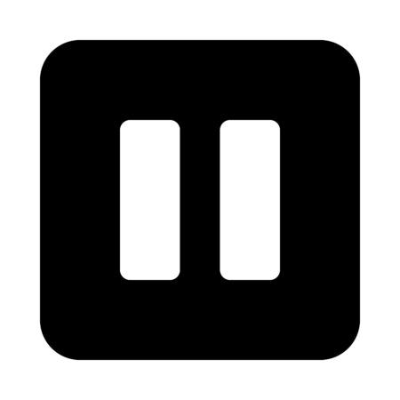 Pause button icon Illustration