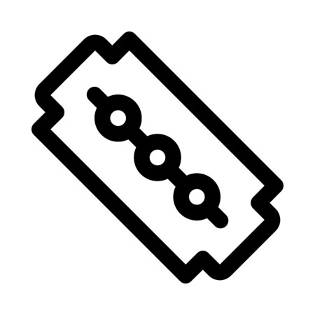 Icono de la cuchilla de afeitar