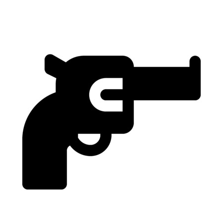 Revolver icon Illustration