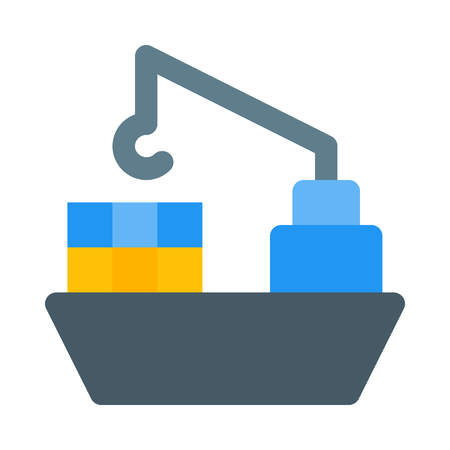 Freighter icon Stock Vector - 89003070