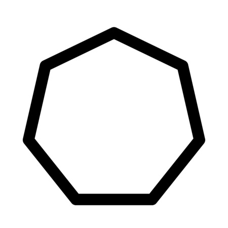 two dimensional heptagon