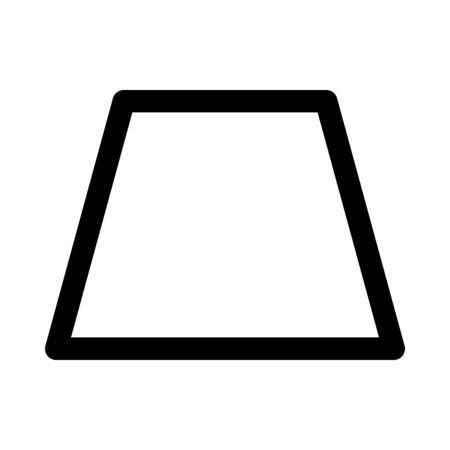 forme de trapèze aiguë Vecteurs