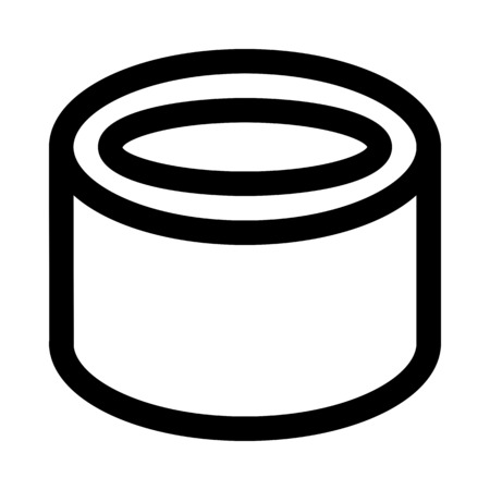 isometric hollow tube Ilustração