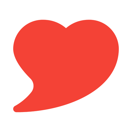 heart shape speech bubble