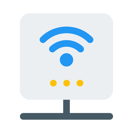 smart wireless router Ilustrace