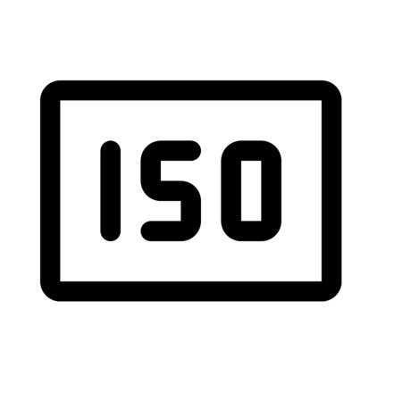 ISO camera settings icon illustration
