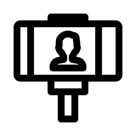 自分撮り - モバイルカメラ  イラスト・ベクター素材