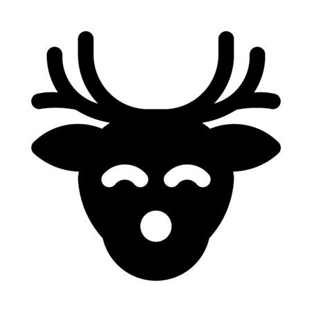 wildlife reindeer head Stock Vector - 90569329
