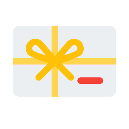 discount gift card Illustration
