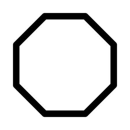 octagon eight-sided polygon Illustration