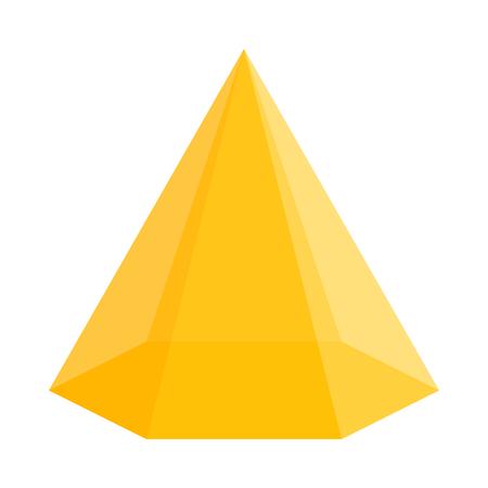 zeshoekige driehoekige piramide