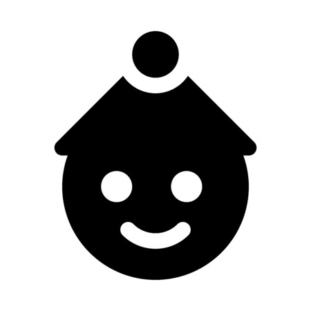 Smiling snowman face Illustration