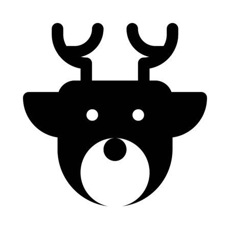 Stag, christmas reindeer Illustration
