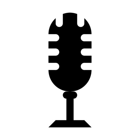 Old-fashioned recording mic