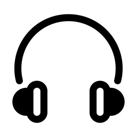 Headphones  Portable accessory illustration on plain background. Illustration