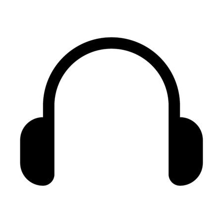 Music wireless headset illustration on plain background.