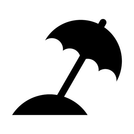 Portable beach umbrella illustration on plain background.