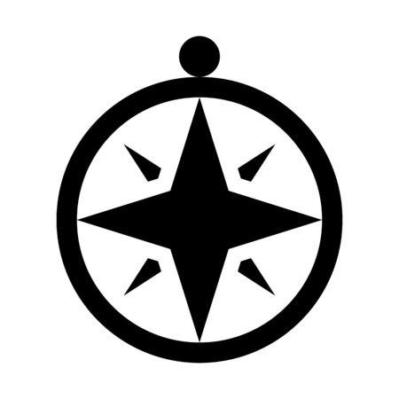 Windrose or compass rose illustration on plain background. Illustration